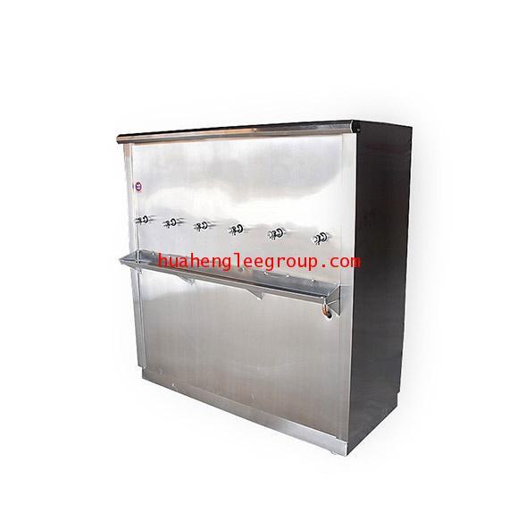 ตู้ทำน้ำเย็น \'KINXONS\' แบบต่อท่อประปา ขนาด 6 หัวก๊อก