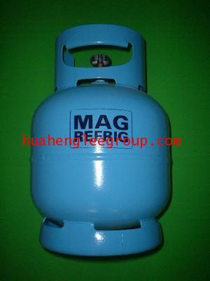ถังน้ำยาเปล่า ขนาด 5 กิโลกรัม R134a สีฟ้า