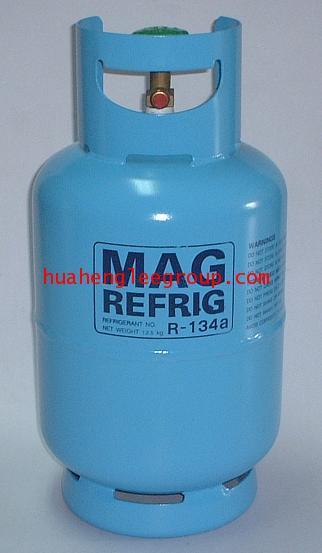 ถังน้ำยาเปล่า ขนาด 13 กิโลกรัม R134a สีฟ้า