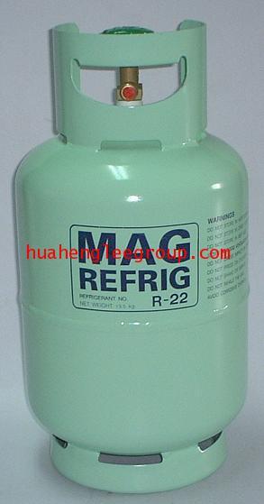 ถังน้ำยาเปล่า ขนาด 13 กิโลกรัม R22 สีเขียว