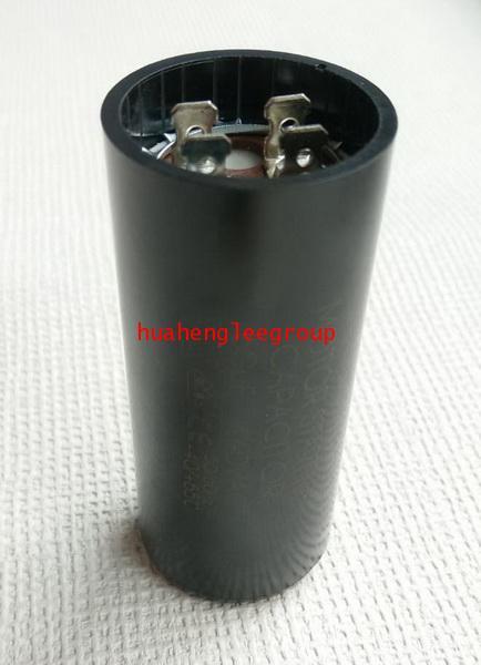 สตาร์ท คาปาซิเตอร์ - แคปสตาร์ท (ตัวพลาสติกกลม สีดำ) หัวเสียบ 60uF 440VAC.