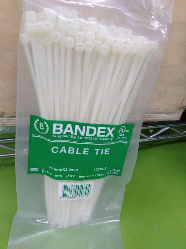 A02226 BANDEX CABLE TIE CT-250-4C 250MMX4.8MM ���������������