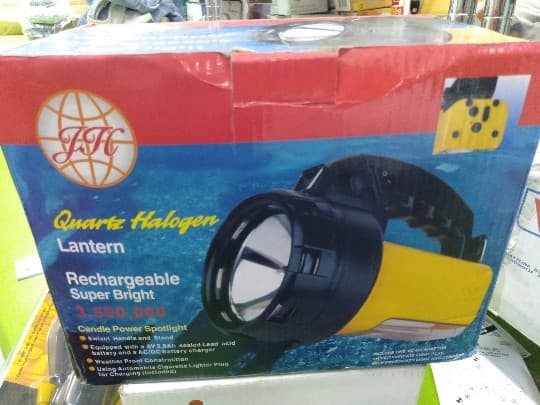 A02954 GJC SUPER BRIGHT SPOTLIGHT WATERPROOF RECHARGEABLE