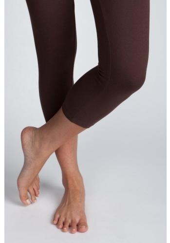 Charlotte Russe Basic Leggings เล้กกิ้งความยาวครึ่งน่องสีน้ำตาล