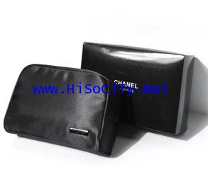 Chanel Black Cosmetic Clutch กระเป๋าใส่เครื่องสำอางสีดำใบใหญ่ใส่ของจุ