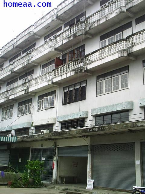 อาคารพาณิชย์ 4 ชั้น ปากเกร็ด จ.นนทบุรี  ใกล้เมเจอร์ปากเกร็ด สภาพพร้อมอยู่