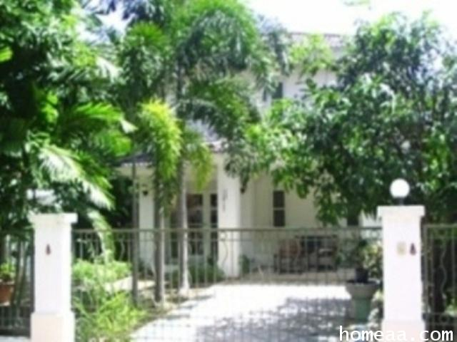 บ้านเดี่ยว 2 ชั้น หมู่บ้านมัณฑนา-ธนบุรีรมย์ เนื้อที่ 75. ตร.วา พร้อมอยู่ บ้านสวยมาก