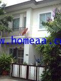 บ้านแฝด 2 ชั้น ม.พร้อมพัฒน์1 ถ.ปัญญาอินทรา เนื้อที่ 35.10 ตร.วา คลองสามวา พร้อมอยู่
