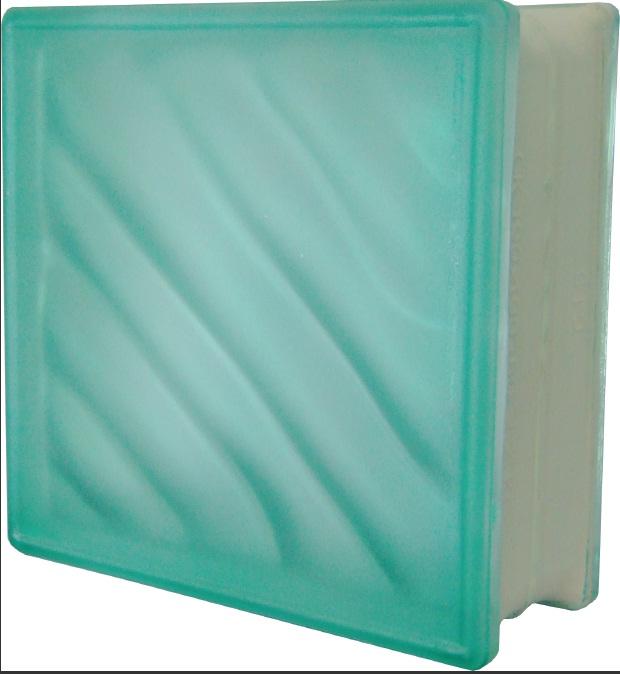 บล็อคแก้วคลื่นสมุทรฝ้าสีเขียว (Ocean Fog Green)