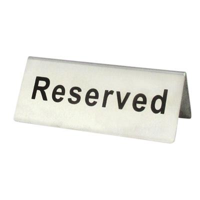 ป้าย Reserved 1617-001