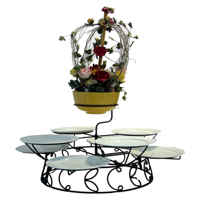 ชั้นวางจานอาหาร กระเช้าดอกไม้ (M) 1619-FF005M (เฉพาะขาตั้ง)