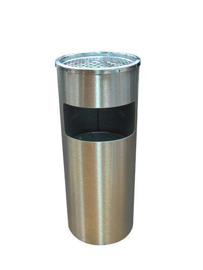 ถังขยะสแตนเลสแบบมีที่เขี่ยบุหรี่ 1402-064