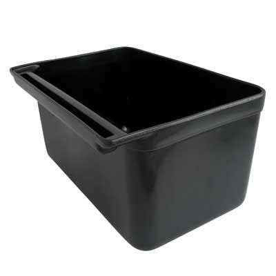 กระบะสั้นสีดำ สำหรับรถเข้นเก็บจาน 1403-004