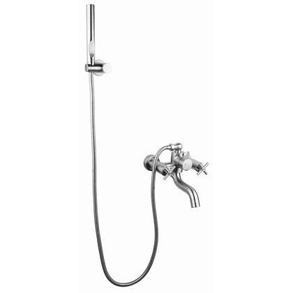 ก๊อกอ่างอาบน้ำแบบคู่ผสมติดผนัง Smooth ( HFVS-B4122D1 )