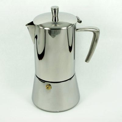 กาต้มกาแฟ Moka pot 4 ถ้วย (หูจับรูปกรวย) 1614-073