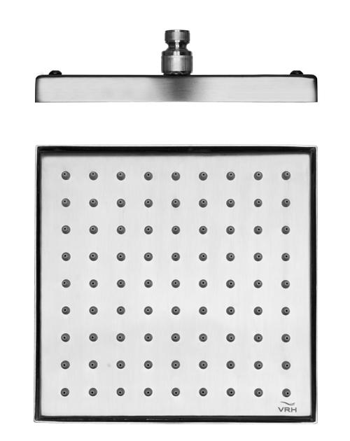 หัวฝักบัวสี่เหลี่ยม ขนาด 8x8 นิ้ว Shower Head 8x8 Inch FJVH-S118BAS