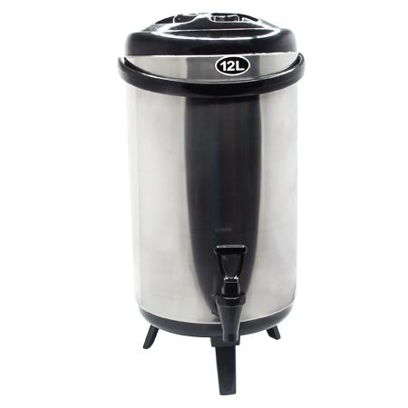 ถังเก็บชานม ถังคูลเลอร์ สแตนเลส 12 ลิตร สีดำ 1614-085-C01