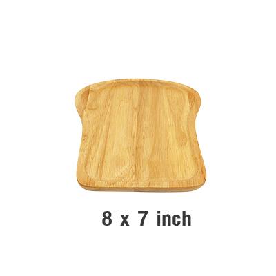 ถาดรูปขนมปัง ไม้ยางพารา 8 x 7 นิ้ว WOOD-040