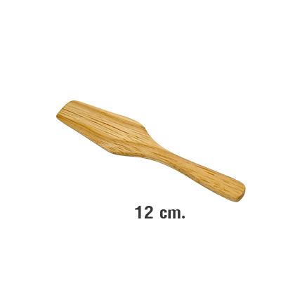ไม้พาย ไม้ยางพารา ยาว 12 ซม. WOOD-098