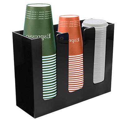 กล่องอะคริลิคใส่แก้วกาแฟเย็น และเครืองดื่ม 3 ช่อง  1610-530
