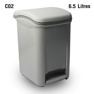 ถังขยะเท้าเหยียบ 6.5 ลิตร สีเทา 1402-087-C02