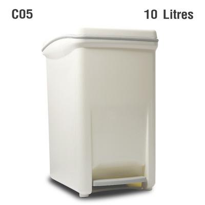ถังขยะเท้าเหยียบ 10 ลิตร สีขาว 1402-088-C05
