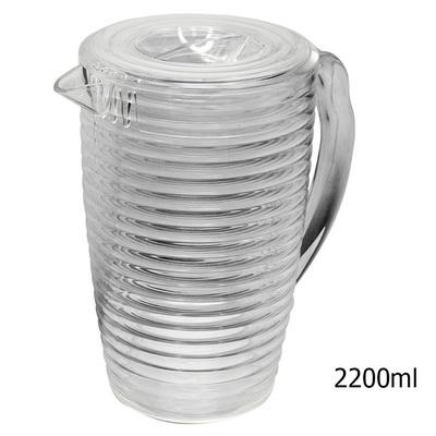 เหยือกน้ำกลมมีลอน  2200 ml. 1610-569