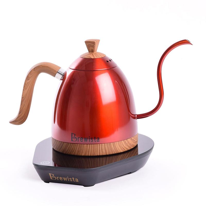 กาต้มน้ำคอห่าน Brewista ต้มตามอุหณภูมิที่กำหนด 600 ml. สีแดงประกาย 1614-174-C03