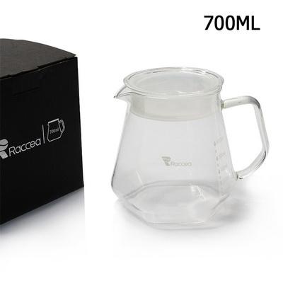 โถดริปแก้ว RACCEA 6 เหลี่ยม 700 ml. 1610-592