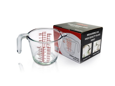 ถ้วยตวงดีลิซิโอ้ Delisio 500 cc 18 Oz. แก้วหนา 5 mm. 1610-560
