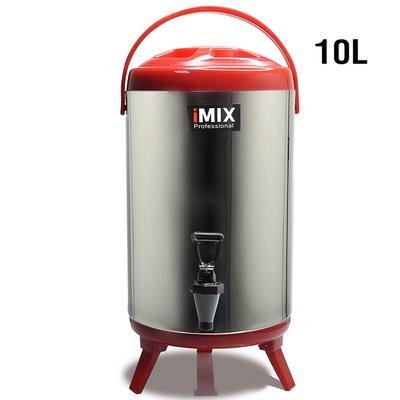 ถังคูลเลอร์ จ่ายน้ำร้อน ถังเก็บชานม สแตนเลส 10 ลิตร สีแดง 1614-084-C03