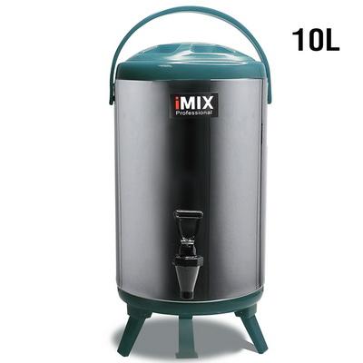 ถังคูลเลอร์ จ่ายน้ำร้อน ถังเก็บชานม สแตนเลส 10 ลิตร สีเขียว 1614-084-C06
