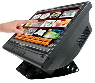 LCD ขนาด 15 แบบ Tuch Screen นิ้วสัมผัส - One POS PC  AtomD425/1G/80G