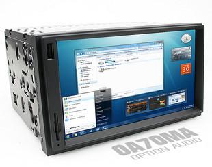 PC Car และเครื่องเสียงรถยนต์ Intel Atom 1.66 GHz ram 1 GB Hdd 250 GB 7 inch LED
