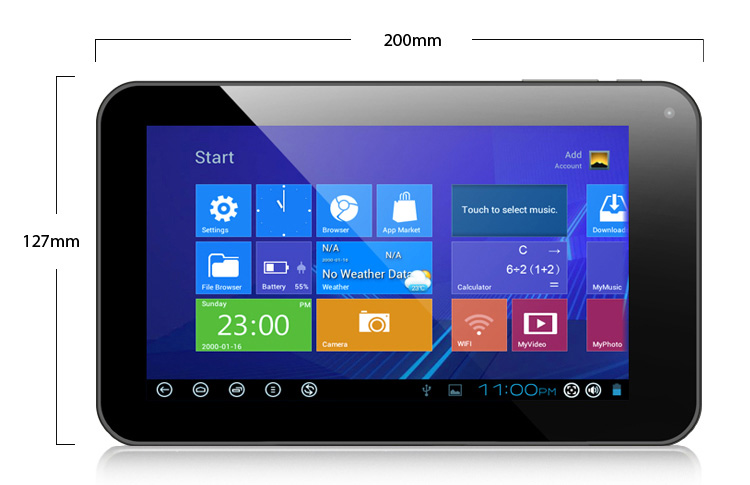 Taplet Dual-Core 1.5GHz (CPU + GPU) 4GB WIN 8+ Android 4.03