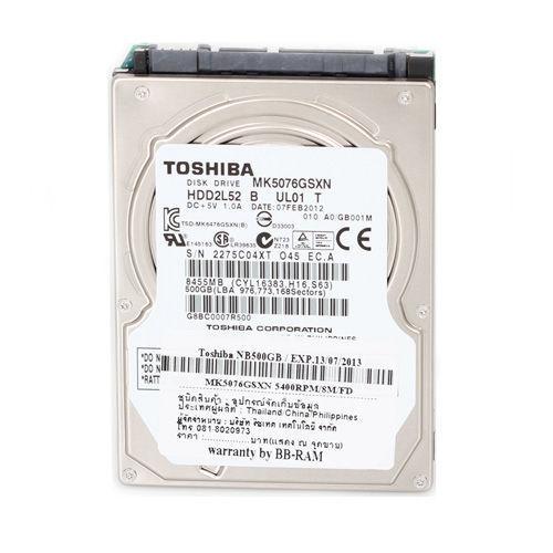 500 GB. (NB-SATA-II) Toshiba MK5076GSXN