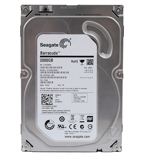2 TB. SATA-III Seagate ST2000DM001