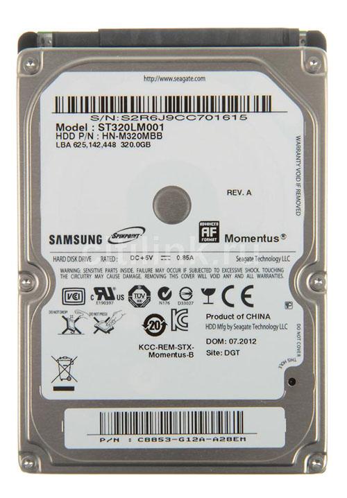 320 GB. (NB-SATA-II) Samsung (8MB, 5400RPM)