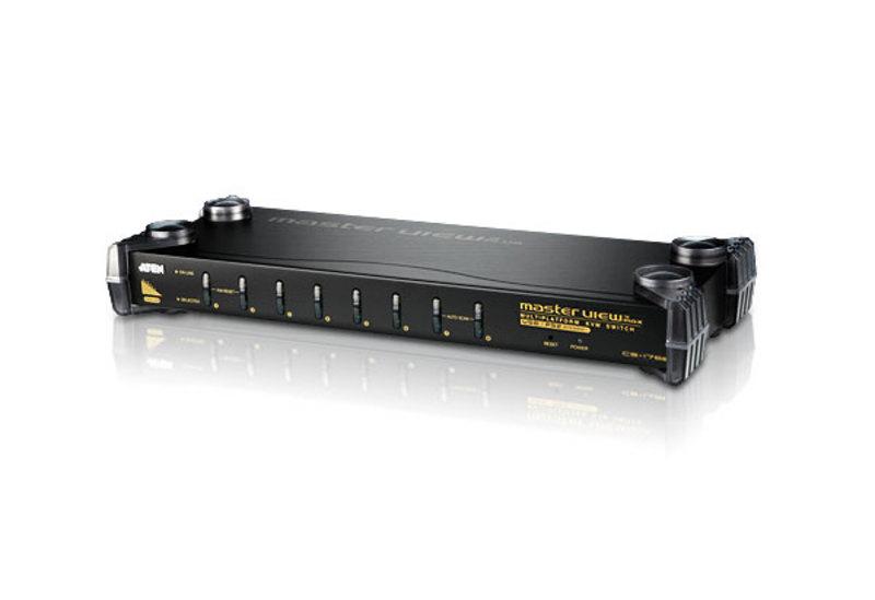 8-port KVM switch USB-PS/2 stereo audio