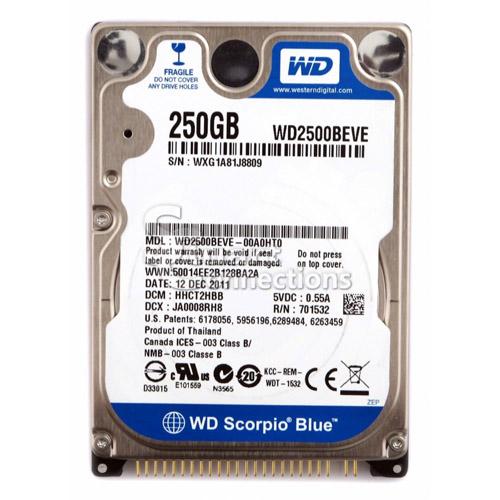 250 GB. (NB-IDE) WD (8MB, 5400rpm)