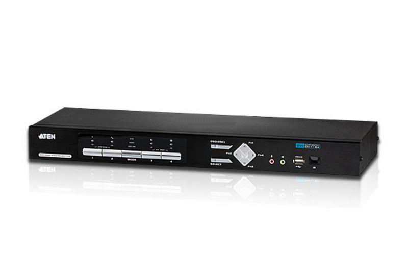 ATEN KVM Switch CS1642A 4-port USB DVI-D KVMP Control Center