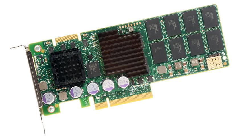 LSI Nytro XP6209-4A1024 PCI-E2.0 MLC SSD 930GB capacity read 2GB / s