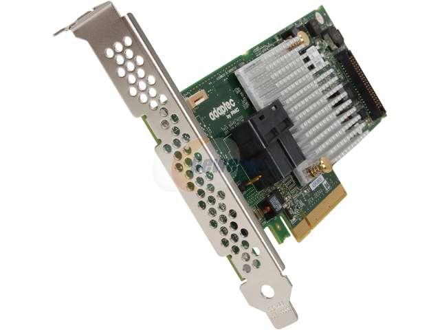 Adaptec 8805 (2277500-R) PCI-Express 3.0 x8 SATA / SAS 8 Internal Ports SAS/SATA RAID