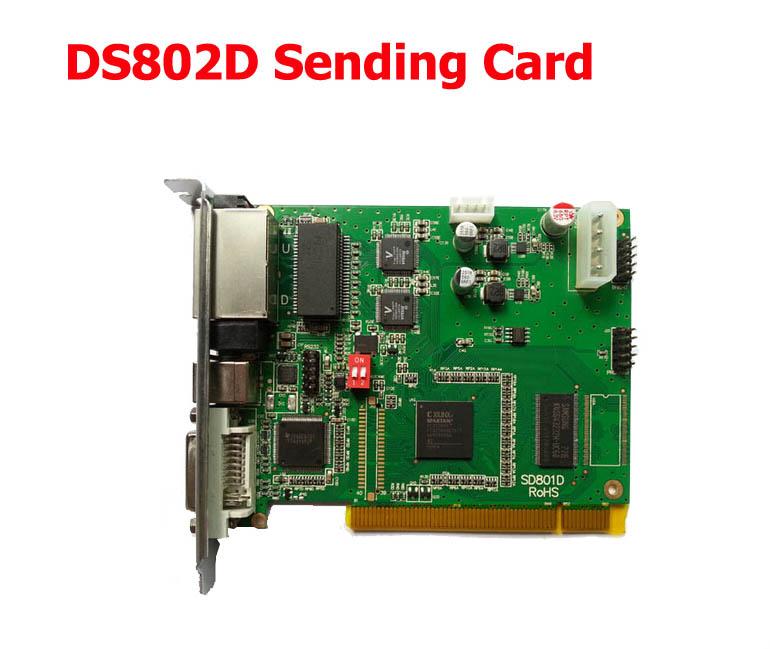 การ์ดส่งสัญญานภาพ Smart light two-color send card linsn-ds802d