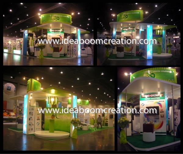 รับออกแบบ รับทำ Booth Exhibition แบบครบวงจร , ออกแบบก่อสร้างบูท , รับจัดบูท