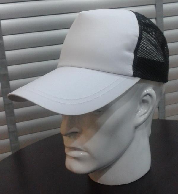 หมวกแก๊ป หน้าขาว สำหรับพิมพ์ภาพ Logo sublimation มีหลายสี แดง น้ำเงิน เขียว เทา ดำ