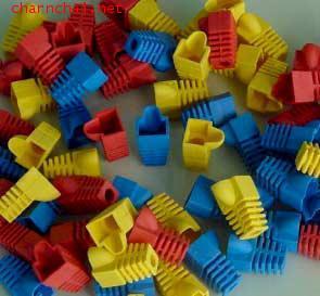 ปลอกสวม ปลั๊กบูทส์ Plug Boot หัวแลน RJ45 ตัวผู้ AMP สีแดง ,เหลือง ,ฟ้า ,ขาว ,เขียว