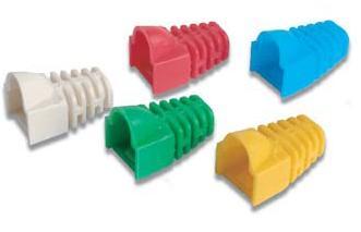ปลอกสวม ปลั๊กบูทส์ Plug Boot หัวแลน RJ45 LINK แพ๊ค 10 อัน เหลือง,แดง,ฟ้า,เขียว,ขาว