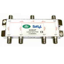 Splitter แยกสัญญาณดาวเทียม DBY 4206AP (S6A)