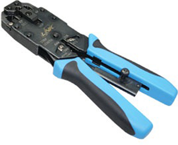 คีมเข้าหัวแลนตัวผู้ LINK TL-1101 (US-8001R) : RJ45, RJ11 4 Pos Hand Set (คีมอย่างดีสำหรับมืออาชีพ)